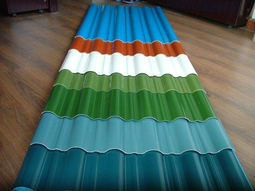 customized color CGCC, DX51D Z adornment Pre painted Corrugated steel Roof Sheets / Sheet