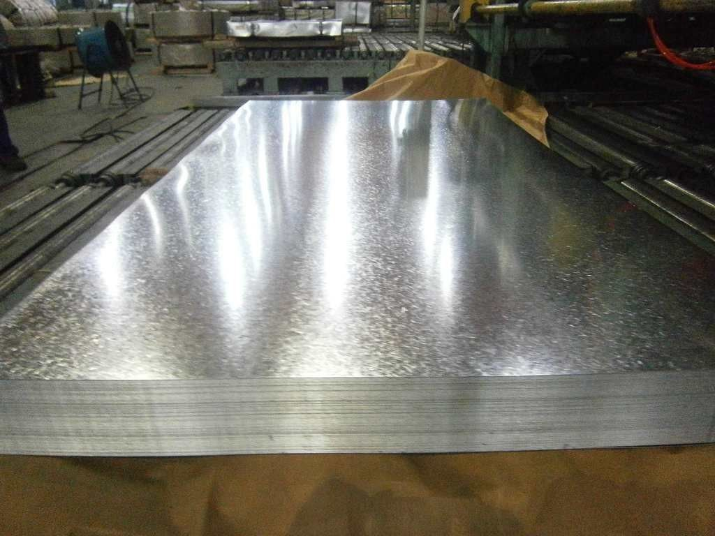 Zero Spangle Hot Dipped Galvanized Steel Sheet , Anti-Finger Treatment ( Acrylic coating )
