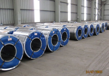 750 mm Spangle Zinc Coating Hot Dipped Galvanized Steel Coils