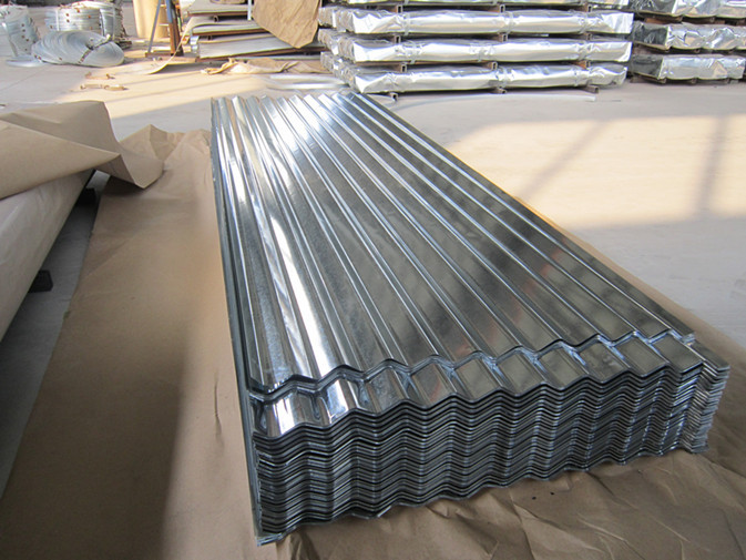0.15-1.5mm Thickness Galvanized Corrugated Roofing Sheet , ASTM A653