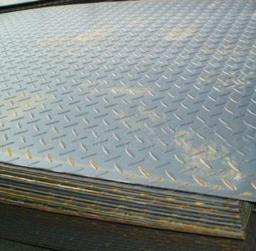Galvanized / galvalume ASTM A36, Q235B, Q345B Hot Rolled Checkered Steel Plate / Coils