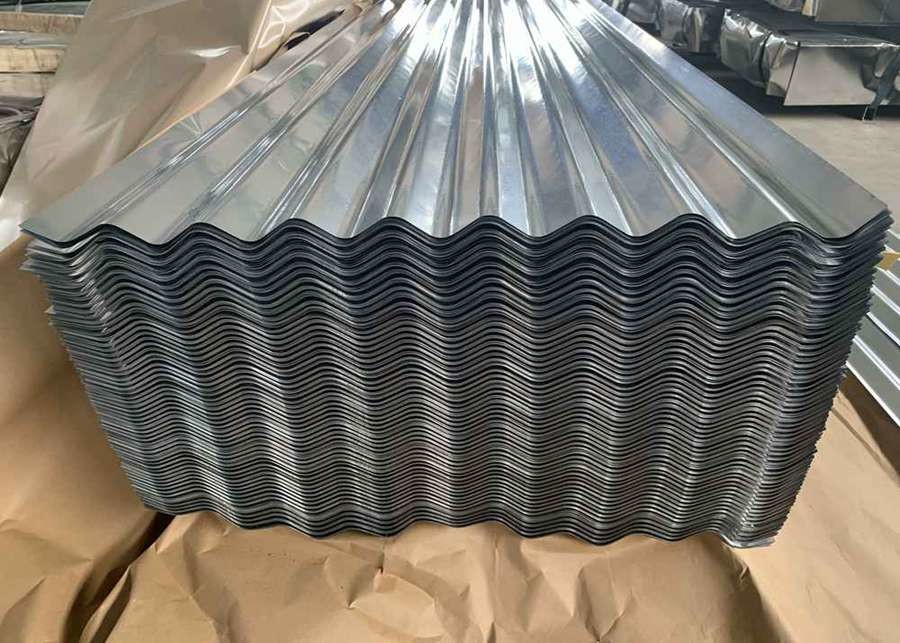 Steel Regular Spangle Galvanized Corrugated Metal Roofing Panels 0.14-1.5mm Thickness